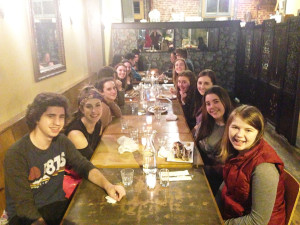 Dinner with my students
